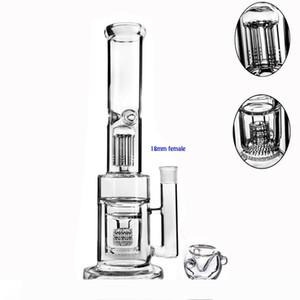 13.7 inchs tall bong glass bubbler smoking pipes thick glass water bongs chicha recycler dab rigs bowl accessories hookash shisha