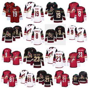 Arizona Coyotes Jersey 8 Nick Schmaltz 9 Clayton Keller 23 Oliver Ekman-Larsson 81 Phil Kessel 21 Derek Stepan Rosso Nero Hockey maglie