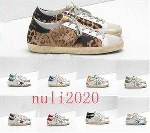 Мода Италия Goleden Old Style DB кроссовки из натуральной кожи ворсинок дермы Повседневная обувь Мужчины / Женщины Luxury Superstar Trainer Размер 35-45