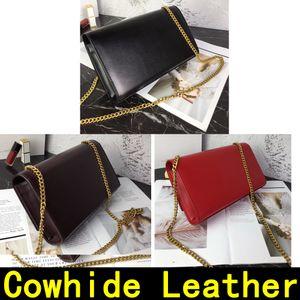 Handtasche Rindsleder Gold Silber Kette mit Schloss Anhänger echtes Leder Handtaschen Schulter-60012