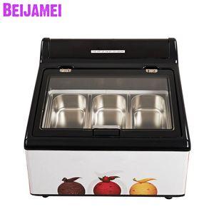 Beijamei 2019 Коммерческая витрина для мороженого 3 кастрюли с электрическим морозильником Морозильная машина
