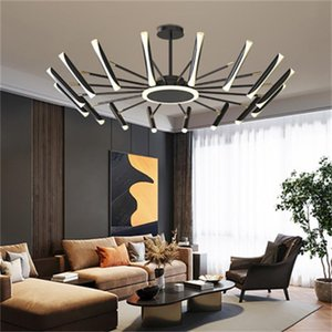 New modern led chandelier lights creative personality dining room pendant lamp art bedroom lamp simple atmospheric ceiling lights