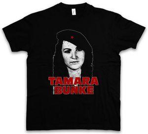 2019 Komik Tamara Bunke T-Shirt-Tania Fidel Küba Castro Portre Che Devrimi Tees