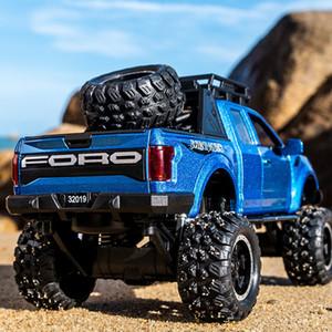 Kidami 1:32 Ford Raptor F150 Grande Roue Alliage Miniauto Pull Diecast Voiture Modèle Jouets Pour International Enfants Cadeaux J190525