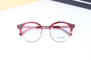 Ücretsiz nakliye Yeni varış edebi yuvarlak yarım çerçeve gözlük kadın ve erkek bağbozumu optik gözlük çerçevesi myopia gözlük olabilir