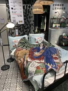 Designer Music 1993 Art print La Musique Tapestry blanket, matisse guitar player Home Art Wall Decor throws for Bedroom Living Cotton