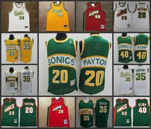 Retro SeattleSupersonicsMen Gary Payton White Authentic Mesh Jersey 1995-96 Mitchell & Ness Hardwoods&#Classics Basketball Jerseys