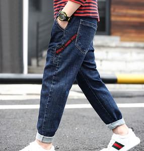 Kinderkleidung Jeans Frühling Jungen Hosen große Kinder lässige Hose Flut 2019 Frühjahr und Herbst neu