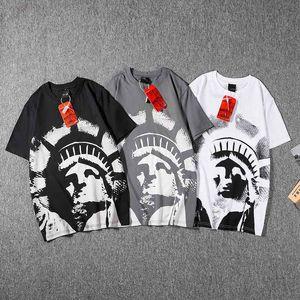 T-shirt feminina moda moda de manga curta dos homens grandes camiseta de algodão estampado roupas Casal hip hop tamanho asiático M-2XL 0911