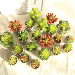 Nuevas Flores Artificiales Meaty Plant Home Decor Desk Office Display Planta Verde para la Sala de Fiesta Festival Suministros H167
