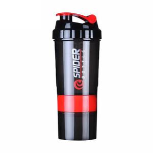 Kreative Proteinpulver Shake Flasche Mischflasche Sport Fitness Wasserkocher Protein Shaker Sport Wasserflasche C19041601