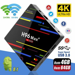 H96 Max plus Android 9.0 Smart TV Box Rockchip RK3328 4GB 32GB Dual Wifi BT4.0 Smart TV Box H96 Max+
