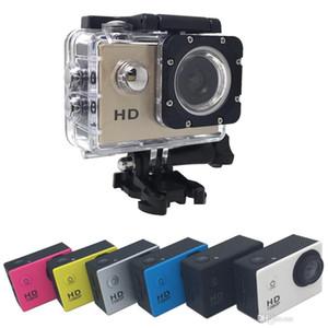 El más barato de pantalla Sport A9 SJ4000 1080P HD lleno de acción para la cámara digital de 2 pulgadas Bajo 30M impermeable DV que registra el mini Sking bicicletas Foto Video