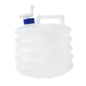 5L Collapsible PE Hiking Large Capacity White Drinking Portable Non Toxic Outdoor Water Container Camping Storage With Tap