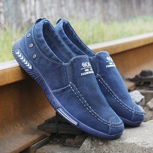 Men Loafers Canvas Shoes Comfort Breathable Denim Sport Men Casual Shoes Fashion Slip on Male Summer Sneakers Zapatos Footwear