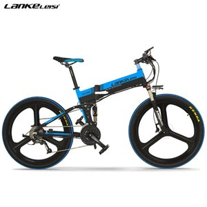 """EU Quality LANKELEISI 26"""" SHlMANO Altus 27-speed Electric Mountain Bike with Removable L G Battery 48V 10Ah"""