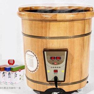 Foot-soaking Barrel Wood Foot-washing Basin Household Heating 40 Cm High And Deep Barrel Over Leg Fumigation Foot Bath