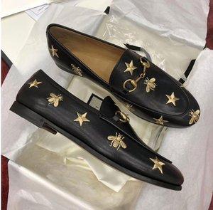 Jordaan série Chaussures en cuir pour hommes et femmes général Paris Star abeille Broderie Chaussures en cuir