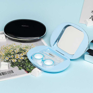 Contact Lenses Storage Box Cleaner Ultrasonic Cleaner With Mirror And Fast Cleaning Pocket Size Contact Lenses Cleaning Box