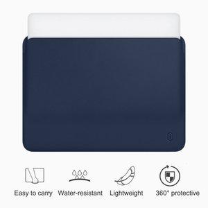 WiWU Laptop Sleeve für MacBook Air 13 Zoll Wasserdicht PU Ledertasche für MacBook Pro 13 15 Zoll Ultra-Slim Laptop Tasche Fall SH190924