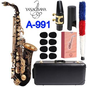 Japan Brand Saxophone Alto Yanagisawa A-991 A-WO10 Eb Sax Alto Black gold key Brass musical instrument With Case Free shipping