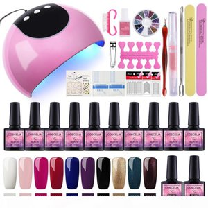 Hot COSCELIA 24W Nail Dryer Manicure Set Tools For Manicure Nail Extension Set Set For Manicure Gel Nail Polish