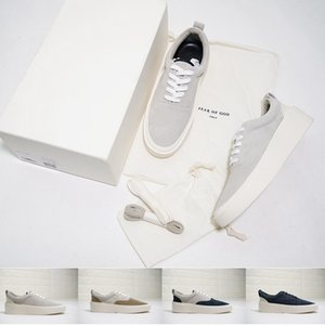 [Con caja] Fear Of God 101 sneaker Designer Mens Casual Shoes The Season 5 Suede Skate FOG Shoes Italy Luxury Slip-On simple Trainers
