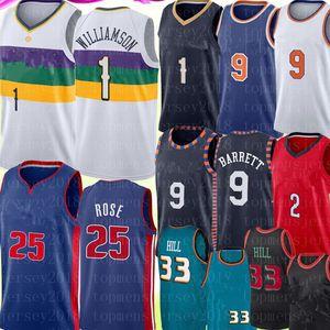 NCAA Sion 1 Williamson Jersey RJ 9 Barrett Lonzo 2 Bola Derrick Rose Jersey Retro 25 de malla de Grant 33 Colina jerseys del baloncesto