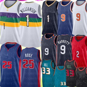 NCAA Zion 1 Williamson Jersey RJ 9 Barrett Lonzo 2 Ball Derrick 25 Rose Jersey Retro Mesh Grant 33 Hill Basketball Jerseys