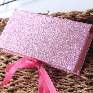 Caja de pestañas brillantes Cajas de pestañas de visón 3D Cajas de pestañas postizas falsas Estuche de embalaje Caja de pestañas vacía Herramienta cosmética RRA1187