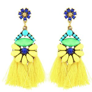 Bohemian Tassel Drop Earrings For Women Vintage Crystal Fringe Long Earring Female Fashion Statement Jewelry Dangle Brincos