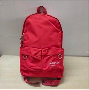 Marke Travel Rucksack School Student Bagpack Mode Off College-Weiß Schwarz-Buch-Tasche Backbag für Teenager-Jungen-Mädchen