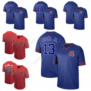 Wholesale Atlanta Baseball Braves Jersey 13 Ronald Acuna Jr. 44 H.Aaron 3 Dale Murphy Cooperstown Collection Legend Fade Jersey