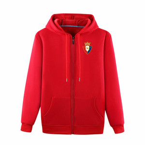 2020 FuAll-Zip Osasuna football Veste à capuche Veste de survêtement de football à capuche Pull veste football Sweatshirt manteau Vestes d'homme
