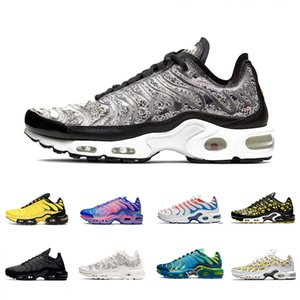 nike air vapormax plus tn VOLT Cushion TN Plus Running Chaussures De Sport Running Bleu Zèbre Wolf Gris TRIPLE NOIR Femmes Hommes Outdoor Trainer Sports Sneakers