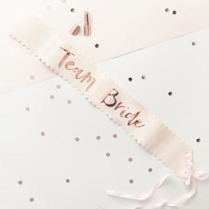 156 * 9.5CM Rose Gold Team Bride, чтобы быть атласным стволом свадебный декор свадебный душ Sash Bachelorette Party украшения курица партии