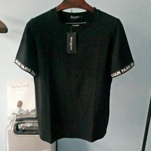 20SS Balmain Mens Stylist T Shirts Fashion Black Mens Fashion Shirt Top Short Sleeve Summer Tees Size S-XXL
