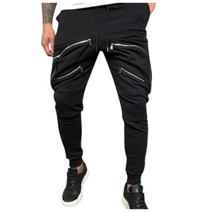 Uomini tasca dei pantaloni Pantaloni 2020 Zip arredamento Casual Male Tatical jogging pantaloni di modo casuale Streetwear Pantaloni # 0228g30