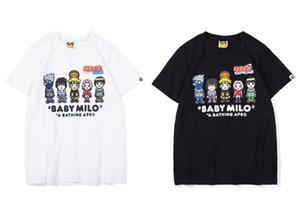 El diseñador de moda camiseta de APE mono grande la boca x Naruto nombre común de la T-camiseta de la camisa clásica del hip-hop sudadera camisa floja de la ropa de la marca