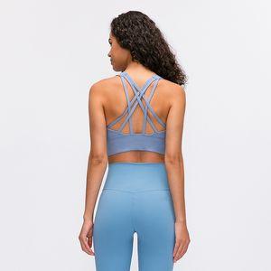 AFK-LU 78 lu sujetador de la yoga 2020 Formación Profesional culturismo Bras ropa interior Mujer de los deportes de gimnasia usan ropa de color sólido mujeres atractivas
