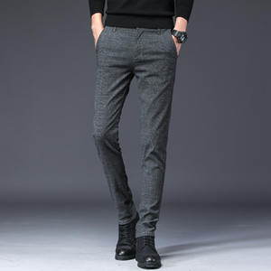 Straight New Design Upscale Casual Men Pants Cotton Slim Male Pant Straight Trousers Fashion Business Pants Men Plus Size 38