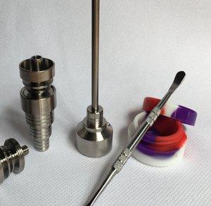 Conjunto de ferramentas de vidro Bong T-002 Prego Domeless GR2 Titanium com Titanium Nail carb cap Dabber FERRAMENTA slicone Jar recipiente Dab