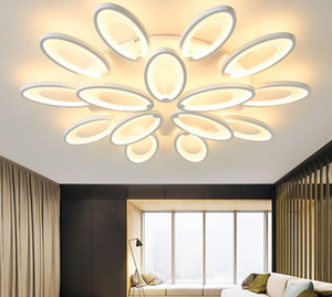 new White body LED Chandeliers For Living Room Acrylic Lampara de techo Modern Chandelier Lamp indoor home fixture Lighting 90-265v MYY