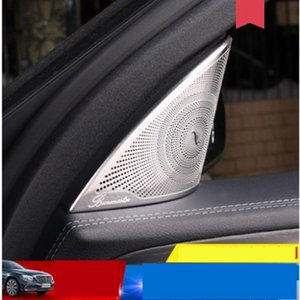 2pcs audio speaker car loud speaker trim covers sticker for Mercedes Benz AMG 16-18 E W213 Class