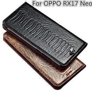 Ostrich Foot Texture Genuine Leather Flip Case For OPPO RX17 Neo Phone Case For OPPO RX17 Neo Phone Bag Card Holder