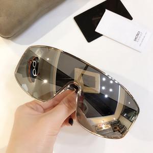 9548 إمرأة مصمم النظارات الشمسية الكبيرة قناع مربع الإطار المعدني النظارات الشمسية الساحرة أسلوب أنيق لمكافحة UV400 عدسة الترفيه النظارات مع حالة