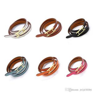 2019 bijoux en gros H ceinture boucle, trois couche bracelet en cuir, kell bracelet, h lettre Bracelets En Cuir, Hommes Et Femmes Bracelet