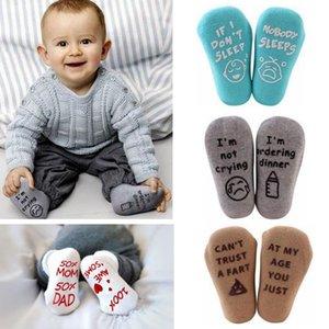 Neugeborene Socken-Baby-Sommer Brief Cotton Socke Kleinkind Anti Slip Ins Socken Baby-Mädchen-weiche Alphabet Söckchen beiläufige reizende Socke C286