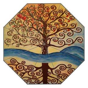 New Custom The Kiss Gustav Klimt Artwork Umbrella Sunny and Rainy Sunscreen Anti-uv Umbrella #QAZ098K