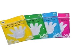 Disposable Gloves Plastic Food Grade Waterproof Transparent Gloves Home Clean Gloves Colorful Packing Other Kitchen Tools